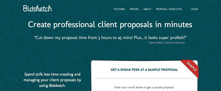 Bidsketch – Create & Send Professional Client Proposals Easily